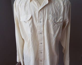 Vintage Long Sleeve Western Snap Shirt by Ranch and Town