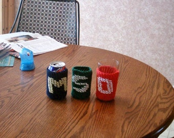 Custom Can Cozy - You pick your school/team colors