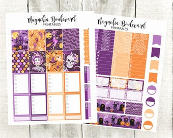 PRINTABLE Halloween Planner Stickers! Perfect for your Erin Condren Life Planner!