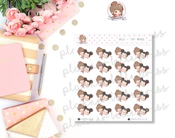 Belle + Toy Mouse || Stationary Stickers, Planner Stickers