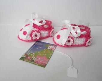 Baby Flower Car Booties Shoes, Crochet Flower Baby Booties, Crochet Baby Car Booties, Crochet Baby Girl Shoes, Crochet Baby Girl Booties