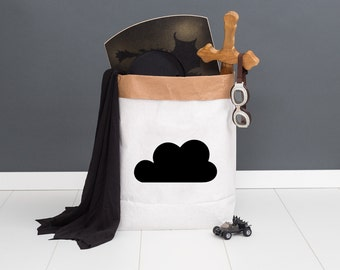 Paper bag M - cloud black - powder cloud