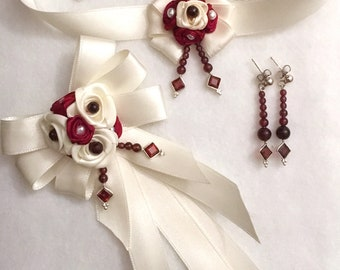 Wedding Cream & Cherries set