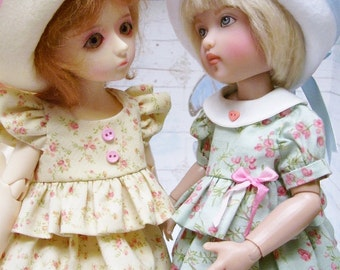 """PDF Pattern for 12"""" Kish or BJD, Ruffled Dress and Hat"""