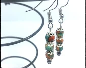 Multi color - french artisaant women earrings