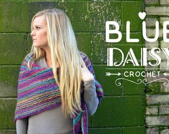 Crochet Multicolored Convertible Shawl