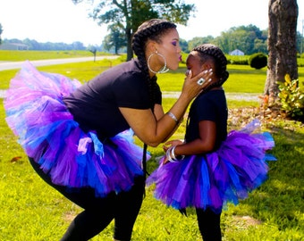 Mother Daughter Tutus - Purple Tutus  - Halloween Tutus