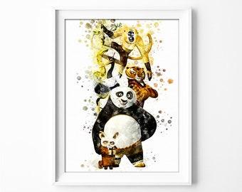 Kung Fu Panda Group Printable Kung Fu Panda Print Kung Fu Panda Birthday Party DIGITAL Print DreamWorks INSTANT DOWNLOAD n495