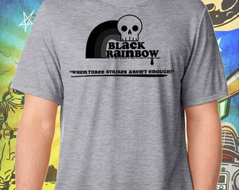 ZNATION / Black Rainbow / Men's Zombie Gray Performance T-Shirt
