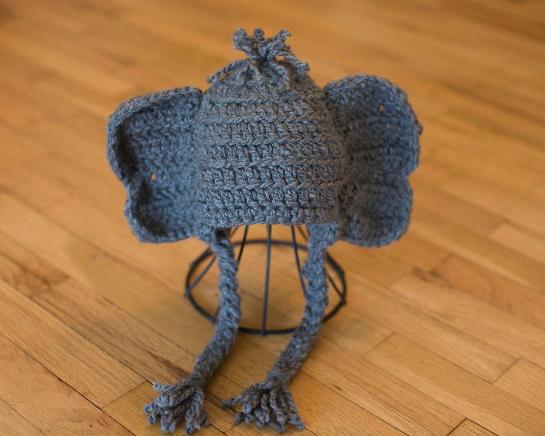Pattern Elephant Baby Hat, Quick, Alabama, Elephant Crochet Pattern ...
