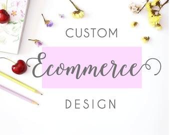 Custom ecommerce website design, wordpress theme, web design with shopping cart