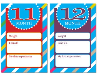 Baby development cards - 11 month - 12 month