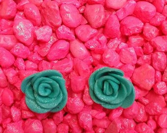 Turquoise Rose Studs