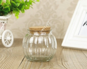 1pieces 81*72mm  wishing bottle Glass bottle with corks
