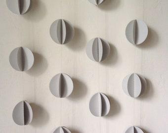3D Paper Garland -  Pom Pom - Wedding Decoration- Paper Decoration - Wedding Garland - Choose Your Color and Length