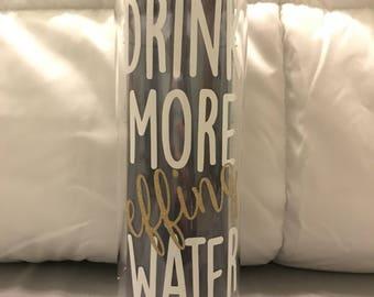 Drink more effing water waterbottle