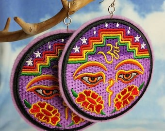 Statement Embroidered Earrings