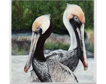Trivet: Pair of Pelicans