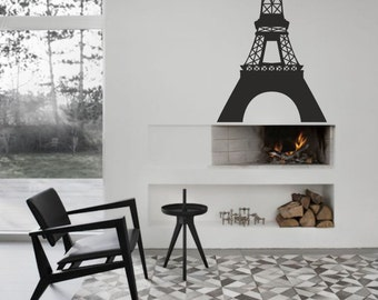 We'll Always Have Paris and large Eiffel Tower wall decalls - removable vinyl wall decal affordable wall decal