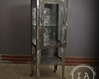Antique Apothecary Medical Dental Cabinet