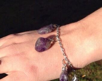 Healing Amethyst Crystal Bracelet | Purple Gemstone Stone Jewelry | Woman's Bracelet | Gift for Mom or Mother in Law | Metaphysical Bracelet