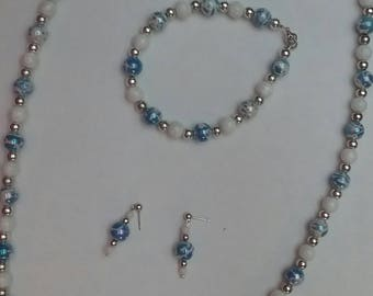 Blue Swirl Luster Pearl (#49)