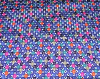 geometric patterns 2 meters, printed jersey fabric retro