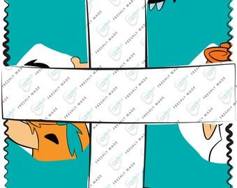 Flintstones 5 Inch Squares Charm Pack, 42 Pieces, Camelot Fabrics, Precut Fabric, Quilt Fabric, Cotton Fabric, Flintstones Fabric, Cartoon