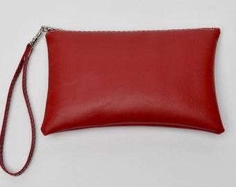 Red Wristlet/Clutch Purse