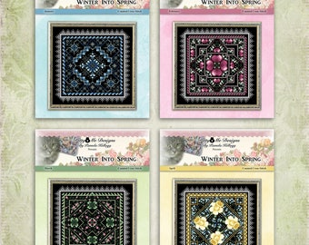 Winter Into Spring Counted Cross Stitch All 4 Designs Free Shipping by Pamela Kellogg