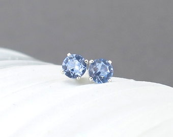 Aquamarine Stud Earrings Aquamarine Earrings March Birthstone Jewelry Gemstone Post Earrings Gift for Her Gift Under 25