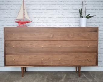 Dumont Dresser - Solid Walnut - Mid Century Modern Inspired