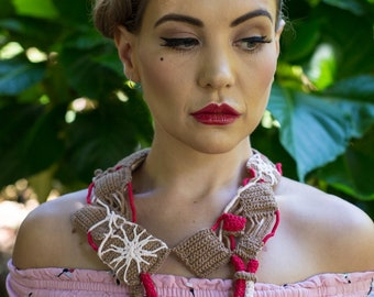 Contemporary Reversible Crochet Necklace