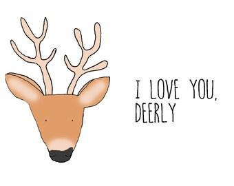 I love you dearly, A6 card