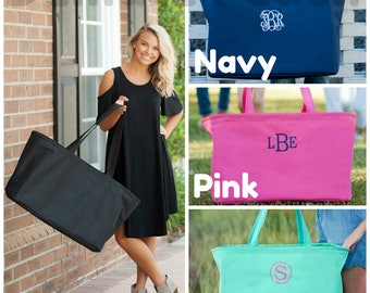 MONOGRAMMED XL Tote, Monogrammed bag,Extra Large Beach bag, Bridesmaid Gift, Game Day Bag, Pool Bag, Beach Bag, Personalized Extra Large Bag