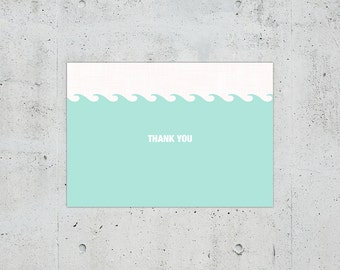 Nautical Wedding Thank You Card | Printable DIY | Color Customizable