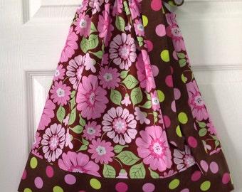 READY TO SHIP - Vibrant Floral Pillowcase Dress Size 5