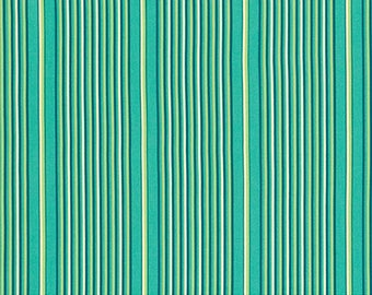 Cotton Amy Butler Cotton Stripe Mix in Lake from the True Colors Collection 1/2 Yard