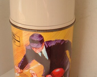 Vintage PLAY BALL Metal Thermos by King Seeley, 1969 Major League Baseball