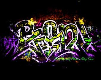 Graffiti Words Digital Photo / Wall Art