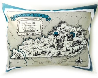 Kentucky State Pillow Cover with Insert