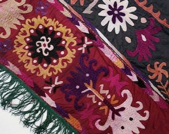 Vintage Turkmen Textile: Ethnic Wallhanging, Saye Gosha 3