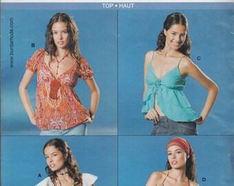 Burda 8043 Top women sewing pattern - New UNCUT Size 8 to 18