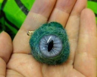 Alien Gumdrop pin Ooak Eye