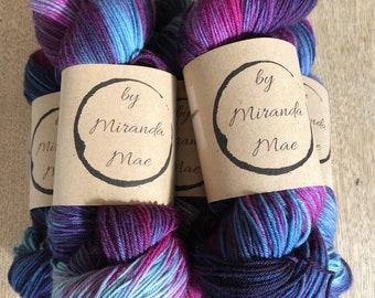 Purple Moon - 85/15 Superwash Merino Wool / Nylon 4PLY Yarn