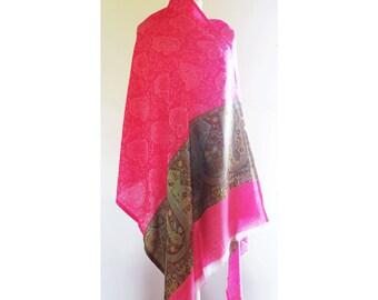 Pink Cashmere Shawl
