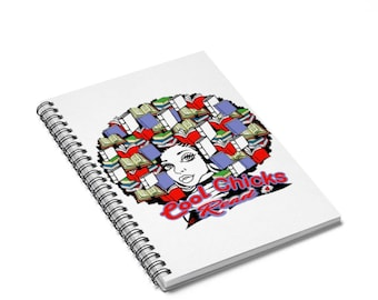 Cool Chicks Read Spiral Notebook  Ruled Line