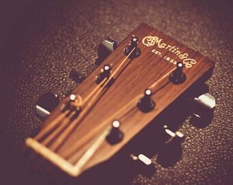 Martin & Co. Guitar Headstock Photograph