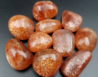 Rainbow Sprinkles Sunstone Small Tumbled Crystal - Magical Confetti Schiller Gem Grade Premium Oligoclase - Sacral Chakra