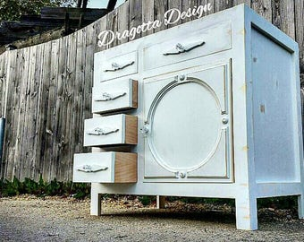 "SALE: Farmhouse Edition 18"" - 72""  Custom, Hand Made, Reclaimed Wood, Shabby Chic, Bathroom Vanity"